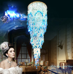 $enCountryForm.capitalKeyWord NZ - Crystal chandelier crystal lamp lights Au stairs long hanging led double spiral staircase hanging villa living room LLFA