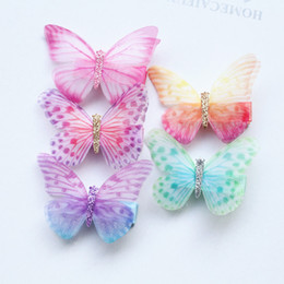 Kids Butterfly Hair Clips NZ - 20pcs Lot New Glitter Fairy Prince Hair Clip Top Quality Brand Hairpin Girl Kid Hair Clip Barrette Cute 6cm Butterfly Multicolor