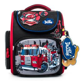 Boys School Cars Bags Canada - delune Brand 1-3 grade orthopedic school bags satchel for boys cars EVA Folded Children Primary School Backpack Mochila Infantil
