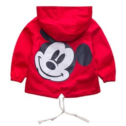Retail Boys Jackets UK - Retail!children autumn clothes coat,baby girls and boy character hooded cardigan windbreaker jacket,baby boys clothes,in stock Y18102508
