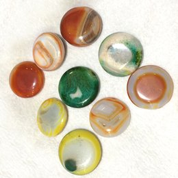 """$enCountryForm.capitalKeyWord Australia - DingSheng 2"""" natural Colorful Onyx Red Agate Round disk play rock cute Cab Cabochon crystal Reiki Charka healing crystals Pocket gift"""
