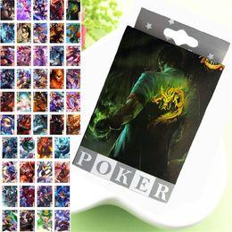 LOL League of Legends Poker Naipes Pósters Postales Juegos de mesa para los coleccionistas de Anime Funs Poker en venta