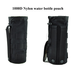 """Tactical Drawstring Water Bottle Pouch Molle water kettle Carrier for 32oz 9.4""""x3.7""""bottle with 1000D Nylon waterproof fabric"""