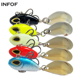 bait tail jigs 2018 - wholesale 5pcs lot Hard Fishing Lure Tail Spin 2.17inch 0.4oz Spinner Bait VIB Saltwater Fishing Bait Swimbait Crankbait