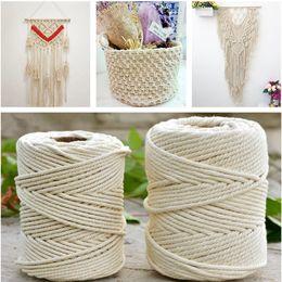Discount white craft wire - 1 2  3mm Diameter White Beige 100m Cotton Twisted Cord Rope Craft Macrame Artcraft String DIY handmade Tying Wire Cord G