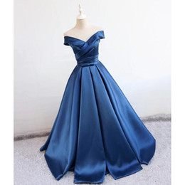 Dress Real Australia - Cap Sleeve Ball Gown Evening Dresses 2018 Simple Pleats Formal Evening Gowns For Women Real Photo Prom Party Dress Custom Made