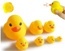 $enCountryForm.capitalKeyWord NZ - Wholesale Baby Bath Water Toy toys Sounds Yellow Rubber Ducks Kids Bathe Children Swimming Beach Gifts Gear Baby Kids Bath Water Toy ZF 003