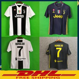 Chinese DHL free shipping Top Thai quality JUVENTUS Soccer Jersey 2018 2019  JUVE 2018 Home Football 51c444baed49