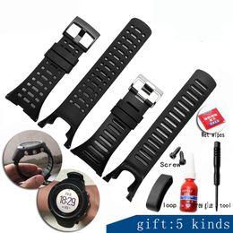 Discount suunto strap - Strap for SUUNTO Ambit 1 2 3 2R 2S 24mm Men's Watch and Screwdriver Watch Accessories + tool + Screw Screw glue