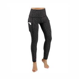 3a499388d4 Pantalones de yoga con bolsillos para mujeres Gimnasio de cintura alta  sólido Medias de running Pantalones de yoga largos elásticos Bolsillos Pan  talla EE.