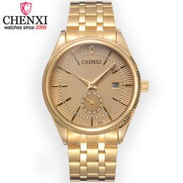 $enCountryForm.capitalKeyWord UK - Wholesale-CHENXI Brand Calendar Gold Quartz Watches Men Luxury Hot Selling Wristwatch Golden Clock Male Rhinestone Watch Relogio Masculino