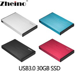 external hard drive speed 2019 - Zheino P2 USB3.0 Portable Mobile External Hard Drive Disk SSD 30GB 60GB 120GB Super Speed with 2.5 Inch SATA Solid State