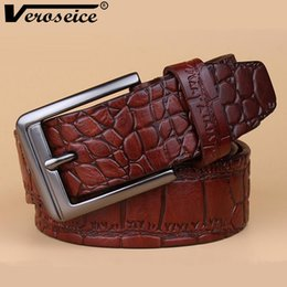 $enCountryForm.capitalKeyWord Canada - [Veroseice] 2017 High Quality Fashion Cowskin Leather Cinto Men Belts Natural Genuine Leather Crocodile Skin Strap Belts for Men