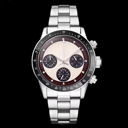 Men watches resistant online shopping - 2018 LUXURY WATCH Chronograph Vintage Perpetual Paul Newman Japanese Quartz Stainless Steel Men Mens Watches Watch Wristwatches
