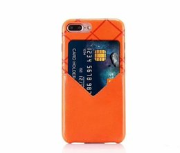 $enCountryForm.capitalKeyWord UK - Hot Fashion Models Colorful Grid Leather Phone Back cover For iphone6 6S 7 7plus With Credit Card Soft Case for Apple iphone X 8 8plus