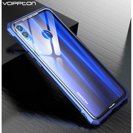 $enCountryForm.capitalKeyWord NZ - wholesale for Huawei honor 8X max Case metal frame transparent Tempered glass back cover For Huawei Honor 8X Case Shockproof
