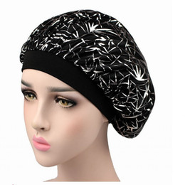 Hottest figure online shopping - Personality Figure Women Chemotherapy Sleeping Hair Hat Concise Designer Letter Cotton Cap For Women Hot Sale gd ff