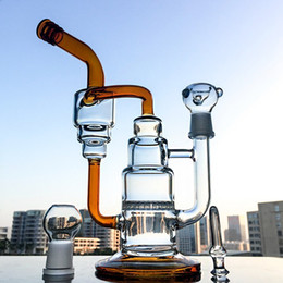 $enCountryForm.capitalKeyWord Australia - Newest 10 Inch Cake Shape Glass Bongs Double Cakes s Recycler Water Pipes Honeycomb Perc With Bowl Dome WP242