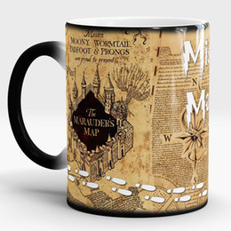 Chinese  Harry Potter Magic new Light Magic Marauders Map mischief managed mug Hot Cold Heat Temperature Sensitive Color-Changing Coffee Tea Mug Cup manufacturers