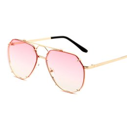 69173b249d4 flat top square sunglasses men uv400 high quality driving metal frame gold  black brown fashion oval sun glasses for men 2018 FML