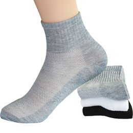 Ani12 Men Good Cotton Summer Breathable Short Socks Casual Mesh Men's Socks