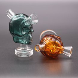 Skull Water Bongs NZ - Colorful Mini Skull Glass Bong Dab Rig Hookah Blunt Bubbler Smoking Bubble Small Water Pipes Small Pipes Hand Pipe bowl hookah