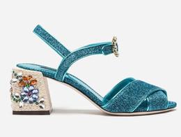 $enCountryForm.capitalKeyWord Canada - elegant fashion cross strap women sandals shiny leather chunky heel crystal buckle rhinestones sandals women wedding shoes custom made size