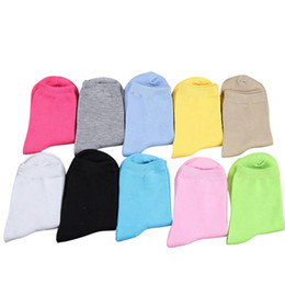 Wholesale candy ankle socks resale online - Women Autumn Winter Fashion Candy Color Cotton Socks For Woman Cute Solid Color Short Socks pairs