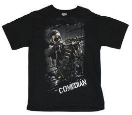 $enCountryForm.capitalKeyWord NZ - Watchmen Mens T-Shirt - Comedian Gun Pose [Apparel] Mens 2018 fashion Brand T Shirt O-Neck 100%cotton