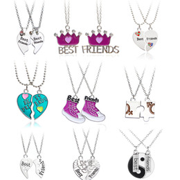 8c296cc3b 2 PCS Best Friends Necklace Jewelry Yin Yang Tai Chi Pendant Couples Paired  BFF Necklaces Pendants Gift