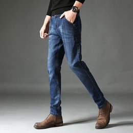 New Trend Casual Jeans Canada - Men 's new jeans male movement Slim feet Korean version of the trend of casual youth pants 2018 Sweatpants