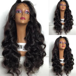 $enCountryForm.capitalKeyWord NZ - Long Body Wave Lace Front Human Hair Wigs With Baby Hair Heat Resistant Glueless Brazilian Full Lace Wigs for Black Women