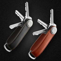 collectors cars 2019 - Car Key Pouch Bag Case Wallet Holder Chain Key Wallet Ring Collector Housekeeper EDC Pocket Organizer Smart Leather Keyc