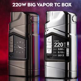 Discount vv box vapors - Original GTRS GT220 VV VW Mod vaporizer 220W electronic cigarette mod big vapor TC box vaping powered by 18650 battery
