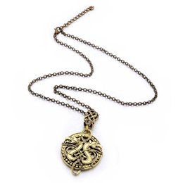 $enCountryForm.capitalKeyWord Canada - Hot Sale Necklace High Quality Wholesale Jewelry 2 Colors Carved Double Dragon Pendant Neck Chain For Man Woman