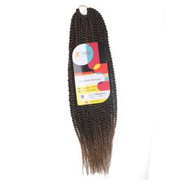 $enCountryForm.capitalKeyWord UK - ZXTRESS Senegalese Twist Crochet Braids Kanekalon Synthetic Braiding Hair Extensions For Black Women 35 Strands Havana Ombre Color Brown 99J