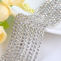 $enCountryForm.capitalKeyWord Australia - Claw Chain Diamond Glass Mesh Wrap Ribbon Roll Cake Rhinestone Wedding Favor Party Supplies DIY Decorations free shipping