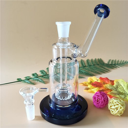 $enCountryForm.capitalKeyWord NZ - New best price portable small bong glass ware glass smoking pipe with sidecar mouthpiece 1 perc 7 inches high(GB-389)