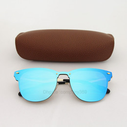 China Best Quality Brand Designer Sunglasses for Men Women Cycling Outdoor Vassl Blue Colorful Fashion Sunglass Cat Eye Sun glasses With brown box suppliers