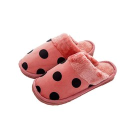 ca7c26ef63e PROWOW Women Shoes For Bedroom Indoor House Slipper Soft Plush Cotton Cute  Slippers Shoes Non-Slip Floor Home Furry Slippers
