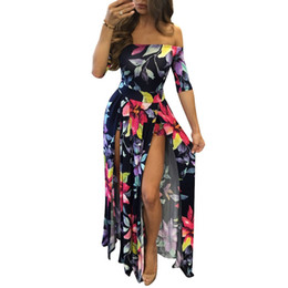 China 2017 Summer Beach Women Rompers and Jumpsuits Burgundy Flower Print Short Sleeve Off The Shoulder High Low Romper plus size 5XL cheap jumpsuit short women flower suppliers