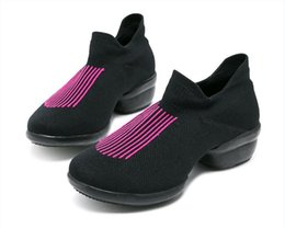 Nuevas mujeres zapatos deportivos zapatos de lona de la aptitud de fitness  moderno jazz superior hip f7450cfae35