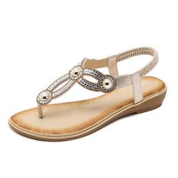 7fd19077318 2018 Women Sandals Gold Shoes Woman Summer Fashion Flip Flops Crystal Ankle  Strap Ladies Shoes Sandalias Mujer Plus Size 35-42