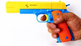 $enCountryForm.capitalKeyWord Australia - New Creative Classic M1911 Toys Mauser Pistol Children's Toy Guns Soft Bullet Gun Plastic Revolver Kids Fun Outdoor Game Shooter Safety
