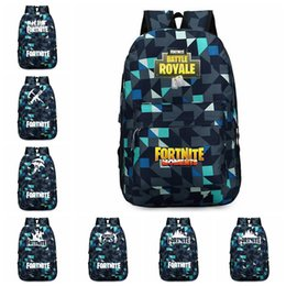 CheCkered baCkpaCks online shopping - 8 designs Fortnite Backpacks cm Fortnit Printed Checkered School Backpack for Boys Girls Student Schoolbag Fortnite Bags MMA485 pc