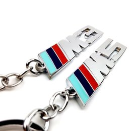 Chinese  M M3 M5 Metal Car Logo key ring keyring keychain key chain KeyHolder Car Styling for BMW M Series 1 3 5 X X1 X3 X5 E3 E5 Z4 manufacturers