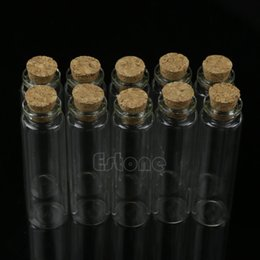 $enCountryForm.capitalKeyWord Australia - S-home 10pcs 20ml 22*80mm New Mini Glass Bottle Vial with Cork Stopper Storage Pendant