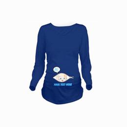 19fd8dde Funny pregnant online shopping - Godier Women Autumn Pregnant T shirt  Costume Funny Pregnancy Cotton T