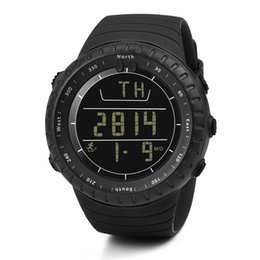 digital lcd watches men 2019 - Watch Men Digital Waterproof Run Step Watch Bracelet Pedometer Calorie Counter Digital LCD Walking Distance Watches Man