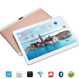 tablets free shipping 2019 - Free shipping Android 7.0 Octa Core 10 inch Tablet PC 4GB RAM 32GB ROM 5MP WIFI A-GPS 4G LTE 2.5D Tempered Glass IPS 128